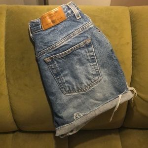 Pants - Custom made high waisted shorts *destroyed*